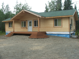Front of Cabin under Construction